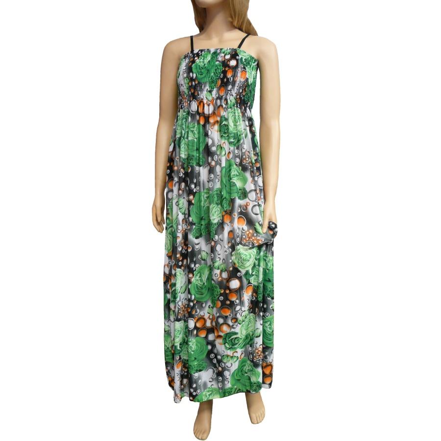 ed71d9bcfb1e Dámské dlouhé letní šaty k moři - zelené - vel. UNI