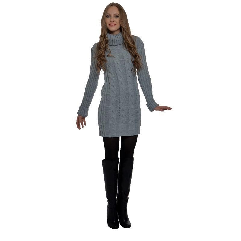 Dámský prodloužený svetr - tmavě šedý - vel. UNI a9227163ea