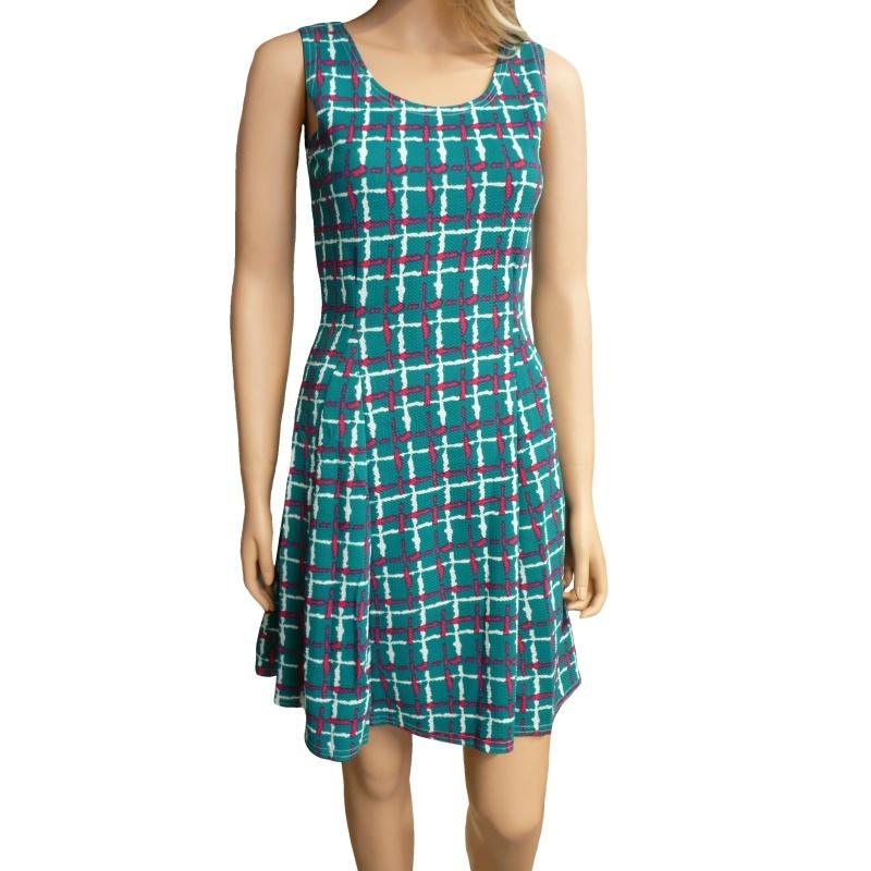 8c6f13e8257c Dámské letní šaty s proužky - zelené - vel. M L
