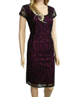 Dámské krajkové šaty - černo-fialové - vel. f82d42052a