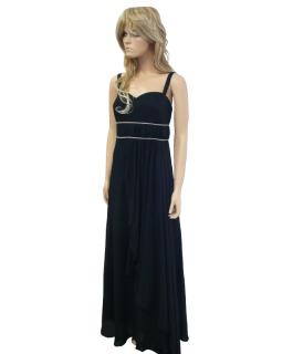 6c4658c616b Černé dlouhé plesové šaty na ramínka - vel.