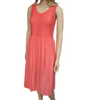 Dámské letní šaty pod kolena - lososové - vel. b5be28c05e