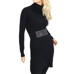 Dámské úpletové šaty nad kolena - černé - vel. L XL empty 3e3a297569