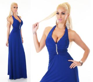 5d72d04442aa Dámské dlouhé letní šaty - barva modrá - vel. UNI empty