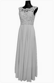 Dámské dlouhé společenské šaty - šedé - vel. L empty 40141b3bae