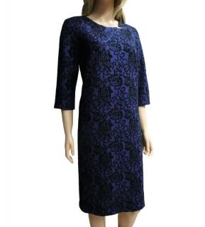 f6bf199c3bd Dámské šaty ke kolenům kolekce jaro podzim - modro-černé - vel.