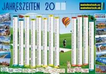 Reklamní nástěnný kalendář