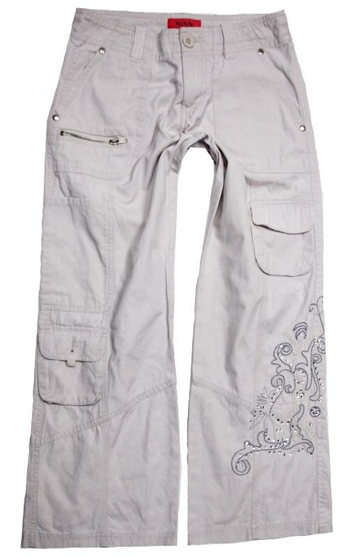 Béžové plátěné kalhoty Minx -vel.128 13933fcc19