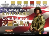 WWII US ARMY UNIFORMS COLOURS SET 2