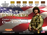 WWII US ARMY UNIFORMS COLOURS SET 1