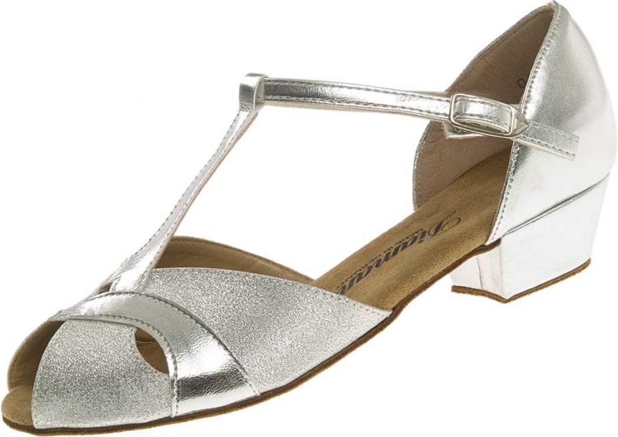 Diamant latina dětská taneční obuv stříbrná defa64f4ca