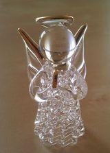 Anděl - sklo se zlatými doplňky