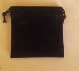 Černý semišový nejmenší 5,5x6 cm