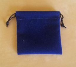 Modrý semišový nejmenší 5,5x6 cm