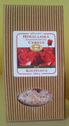 Koupelová sůl - růže