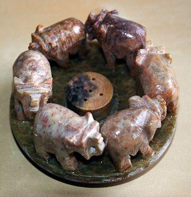 Sloni - mastek, podstavec na vonné svíčky