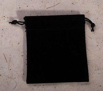 Černý semišový malý 7x8 cm