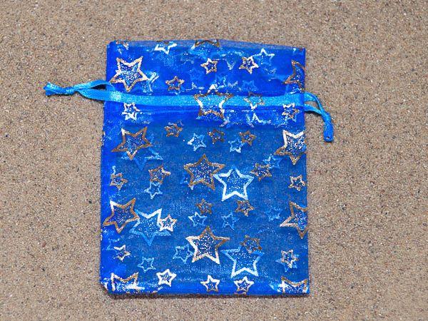 Barevný - modrý se stříbrným potiskem 8x10,5 cm