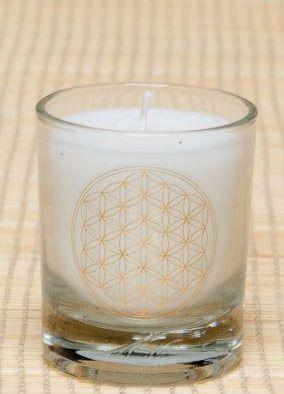 Čakrová svíčka - Bílá malá