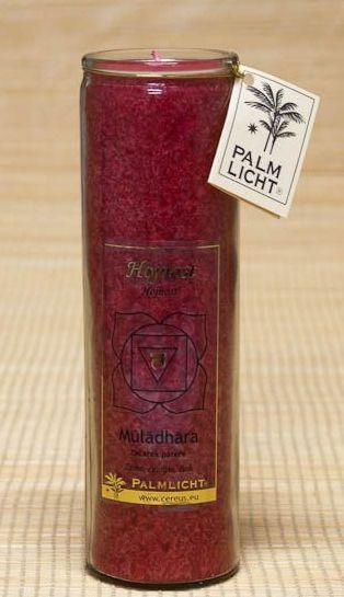 Čakrová svíčka - Červená velká