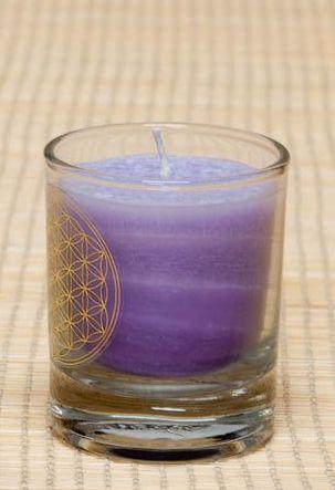 Čakrová svíčka - Fialová malá