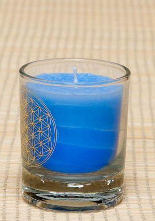 Čakrová svíčka - Modrá malá