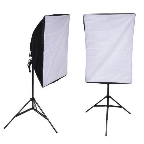 1x Softbox 50x70 cm + 1 stativ a 4  ks úsporné zářivky 105W - 1