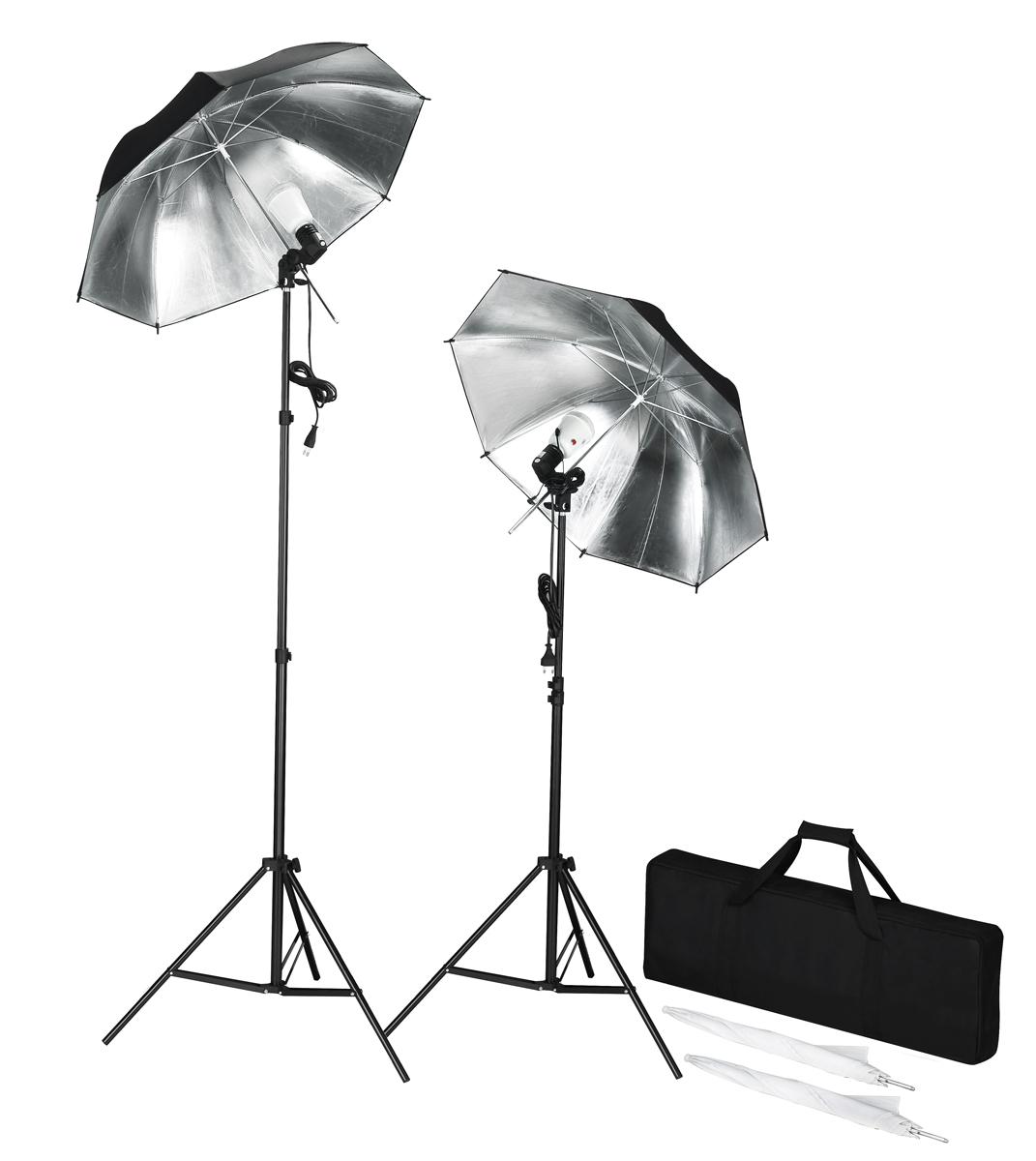 Profesionální studio - zábleskové světlo včetně stativů a deštníků