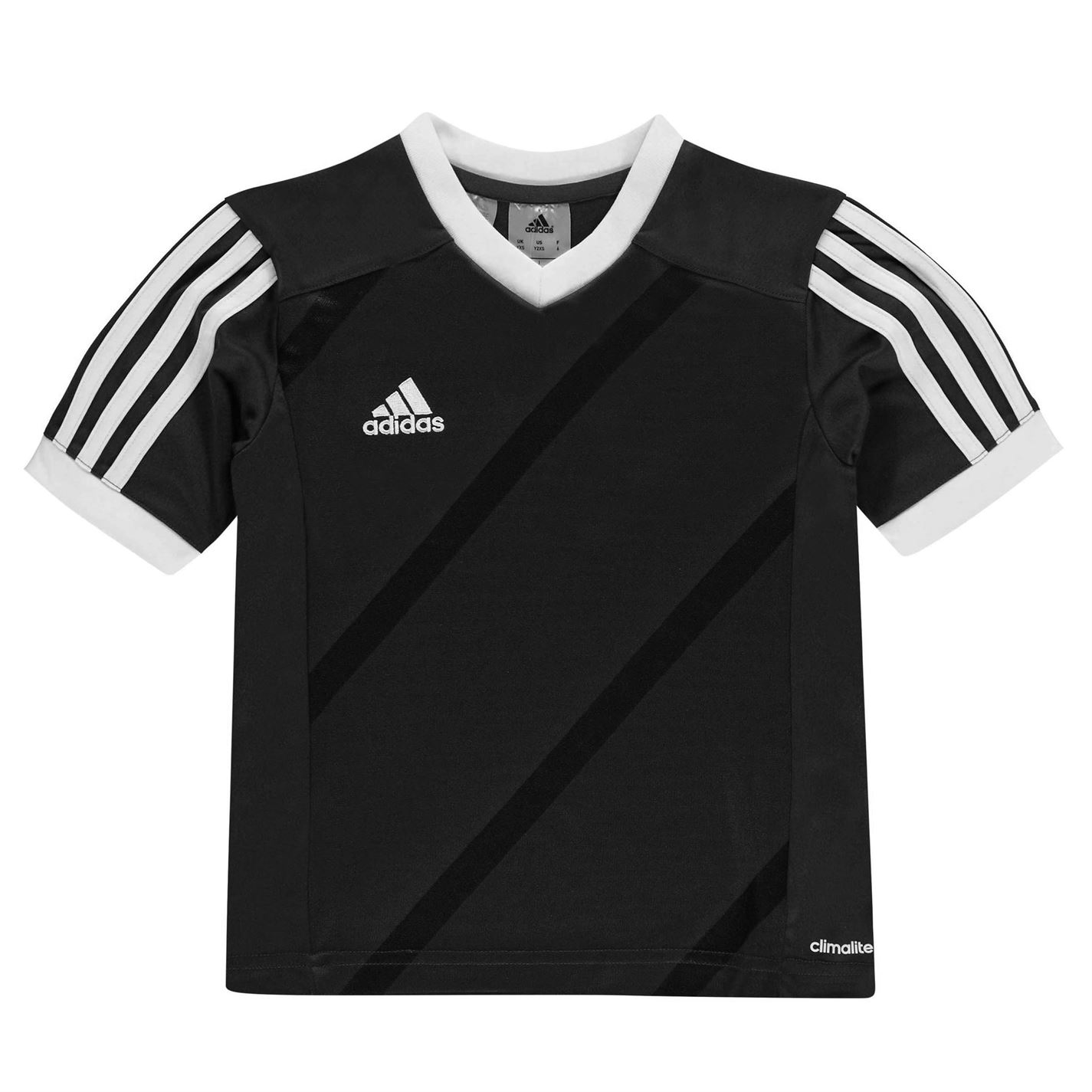9a7cfc5396e4 dětské tričko ADIDAS - BLACK WHITE - 13 let
