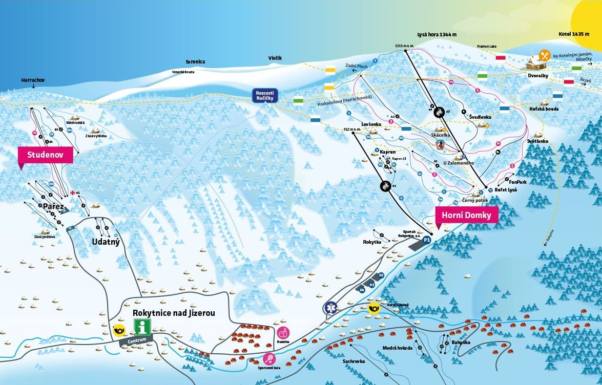SKI MAPA - Rokytnice nad Jizerou