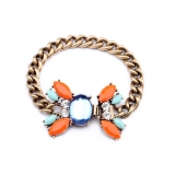 Bracelet gold color natural crystal stone pendant hand fashion